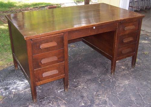 Lemco flat top executive office desk Chicago c1940