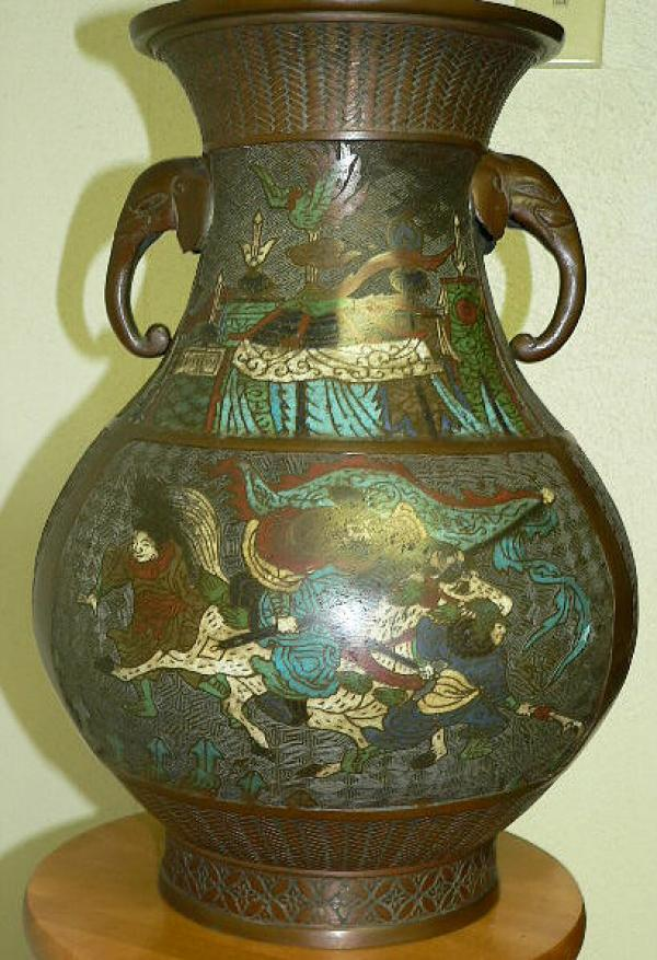 Price My Item: Value of Chinese champleve bronze oriental vase