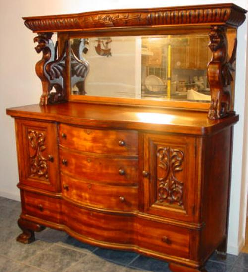 Victorian sideboard with wing Griffins c1900