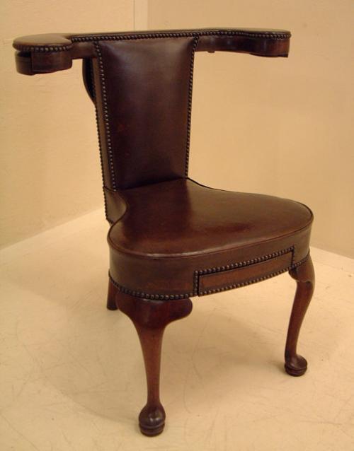 Antique English Mahogany betting chair