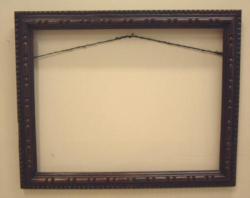 Arts and Crafts solid wood carved frame c1900