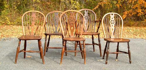 Longridge Wheel Back English Windsor Bow Back Chairs c1820