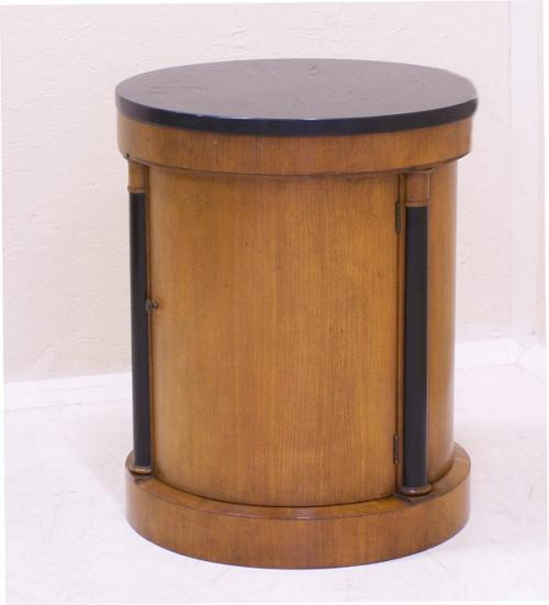 Baker Biedermeier style half commode with marble top