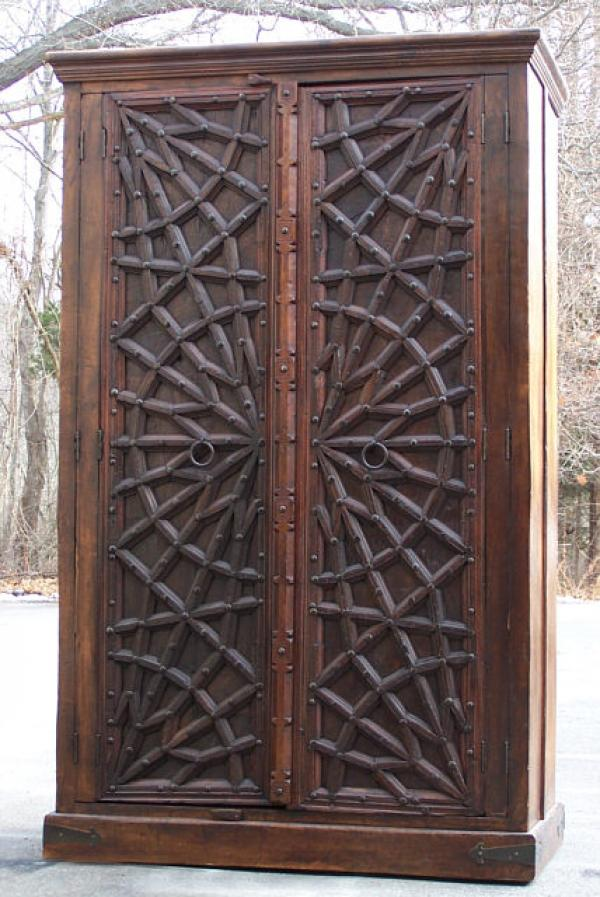 Price my item value of pair of antique wood indian doors for R value of old wood garage door