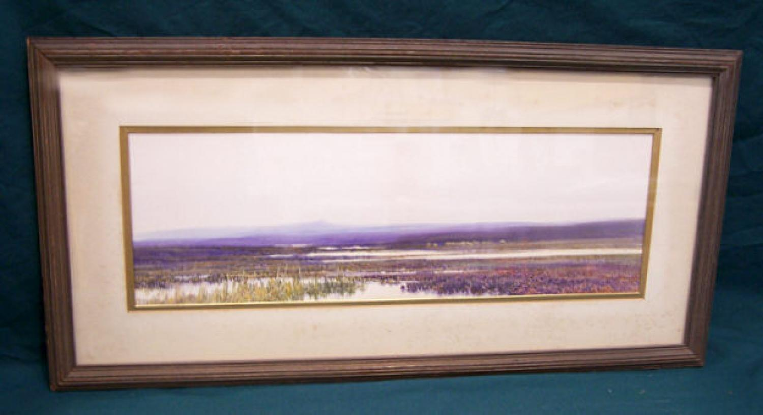 Landscape Watercolour by British artist F J Widgery c1880