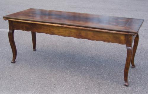 Country French Cherry Farmhouse Dining Draw Table c1760