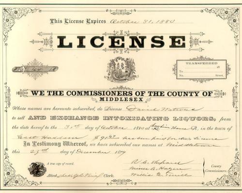 Liquor License Champion House East Haddam CT