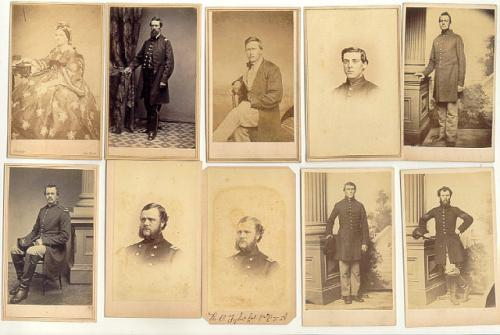 11 Civil War carte de visite photographs Mary Todd Lincoln Grant