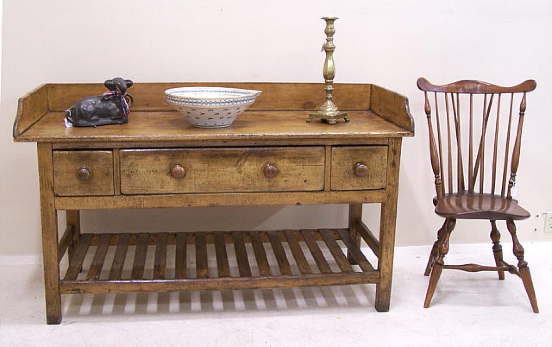 Early Irish furniture dairy table c1820 to 1840