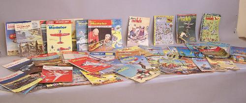 American Modeler Flying Model magazines from 1950