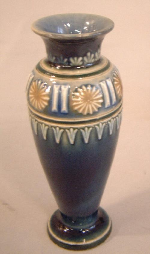 Doulton Lambeth art pottery vase c1887 to 1893