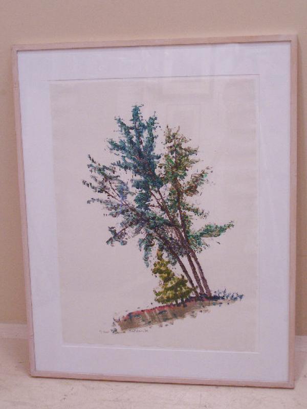 Brad Darius Davis Four Trees Painting