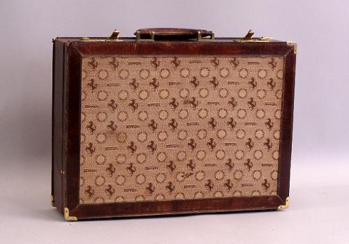 Leather Ferrari Valise Briefcase car travel Luggage