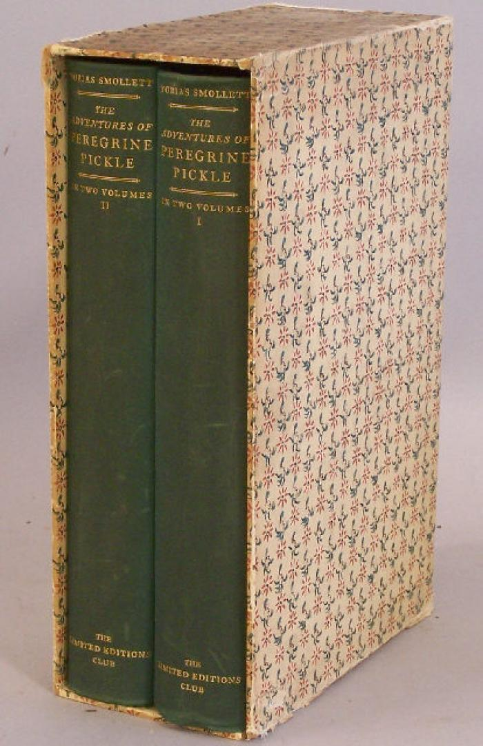 Tobias Smollett The Adventures of Peregrine Pickle c1936