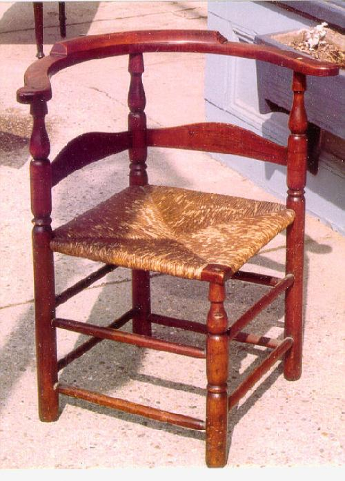 Period American country lader back corner chair c1790
