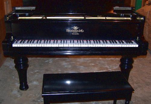 Heintzman  Co. Ltd. Ebonized Grand Piano Toronto c1900
