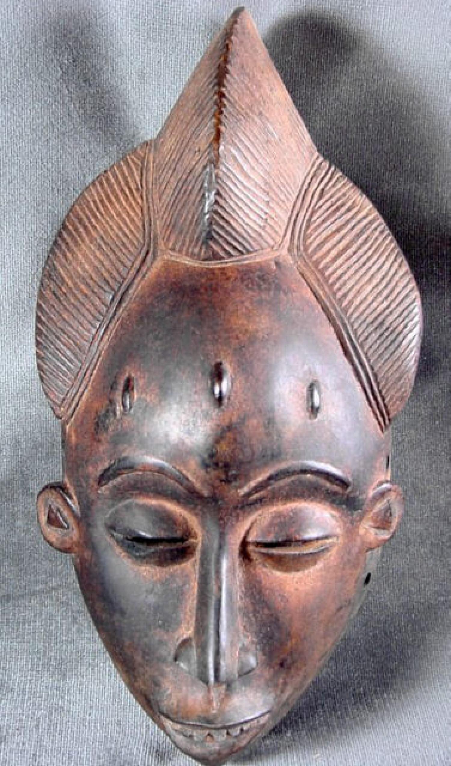 An African Tribal Female Mask  Baule Tribe