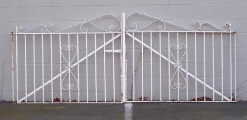 Vintage wrought iron garden gates c1950