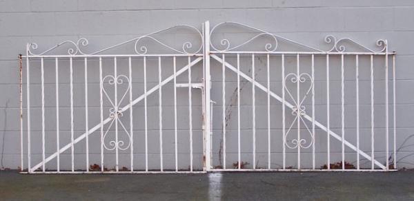 Price my item value of vintage wrought iron garden gates
