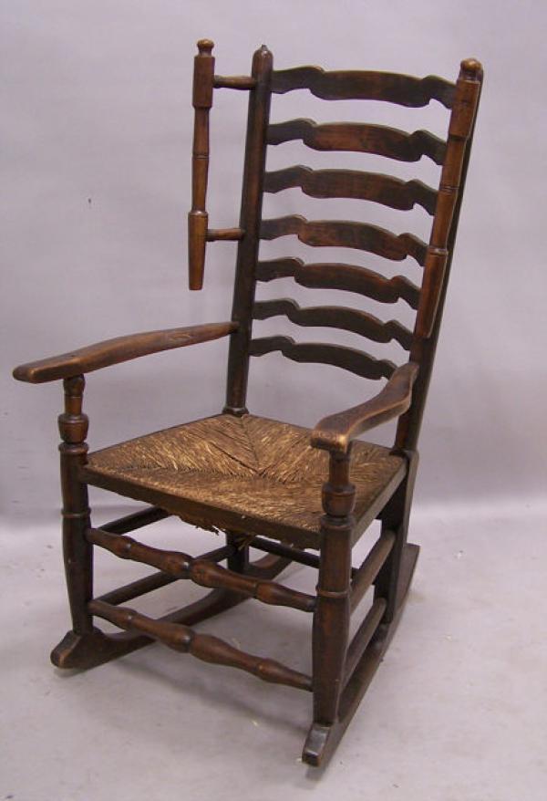 Price My Item: Value of Antique English oak rush seat rocking chair ...