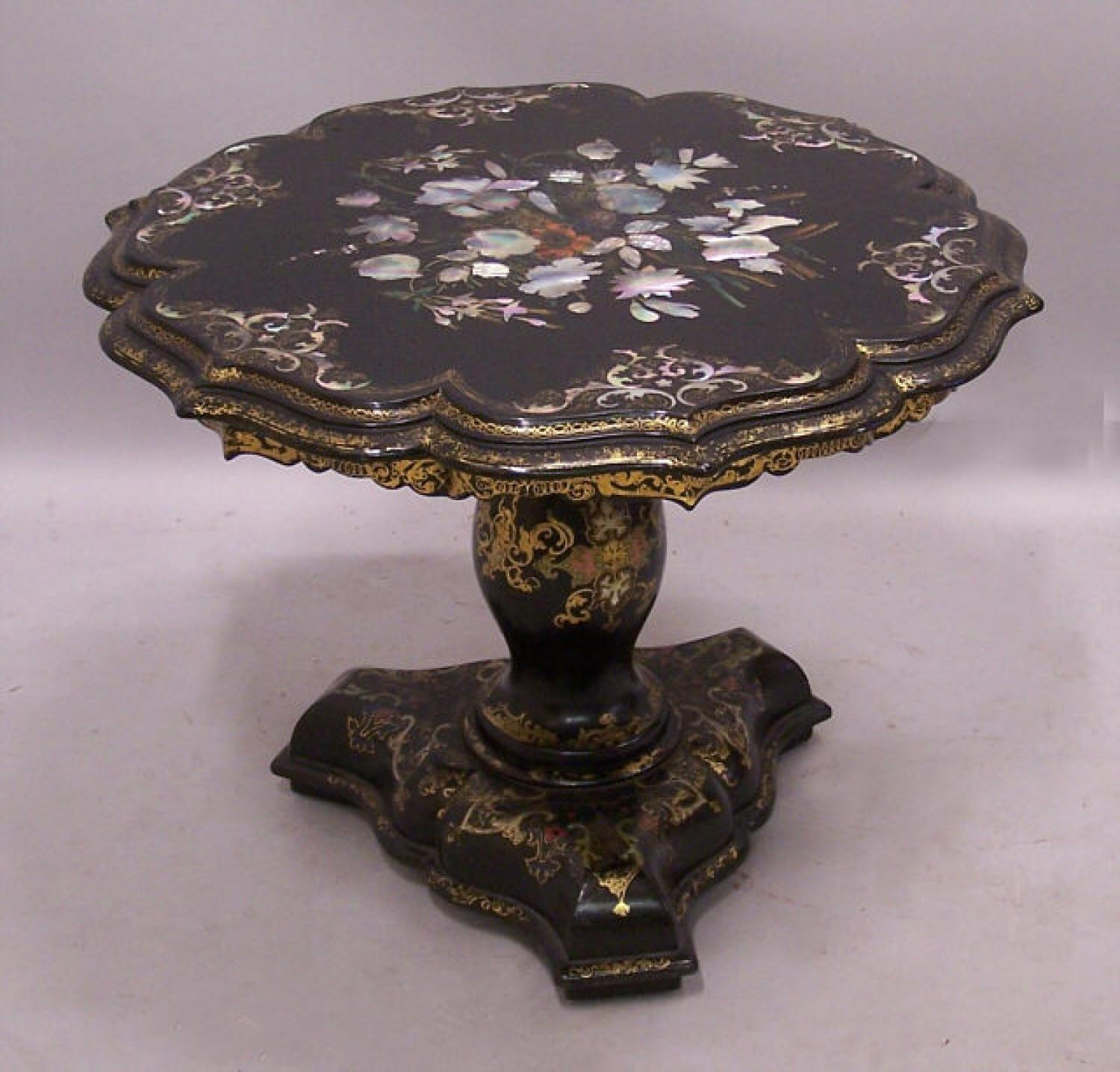 Anglo Indian papier mache coffee table 1855