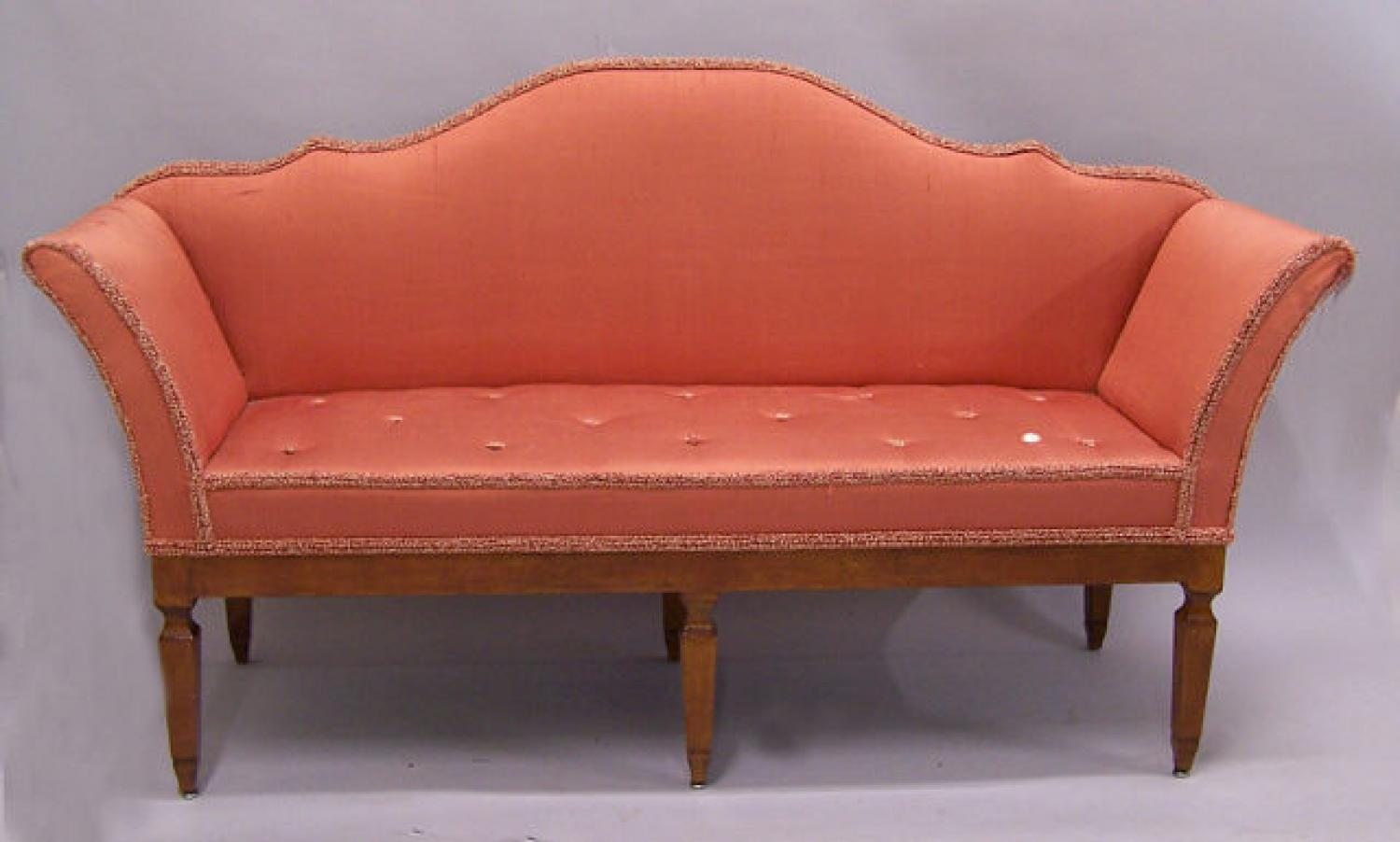 Adam style English upholstered settee