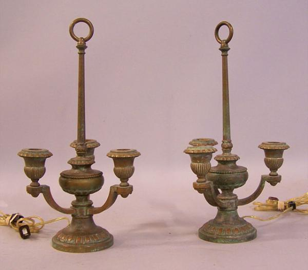 price my item value of pair of french bronze bouillottes lamps. Black Bedroom Furniture Sets. Home Design Ideas