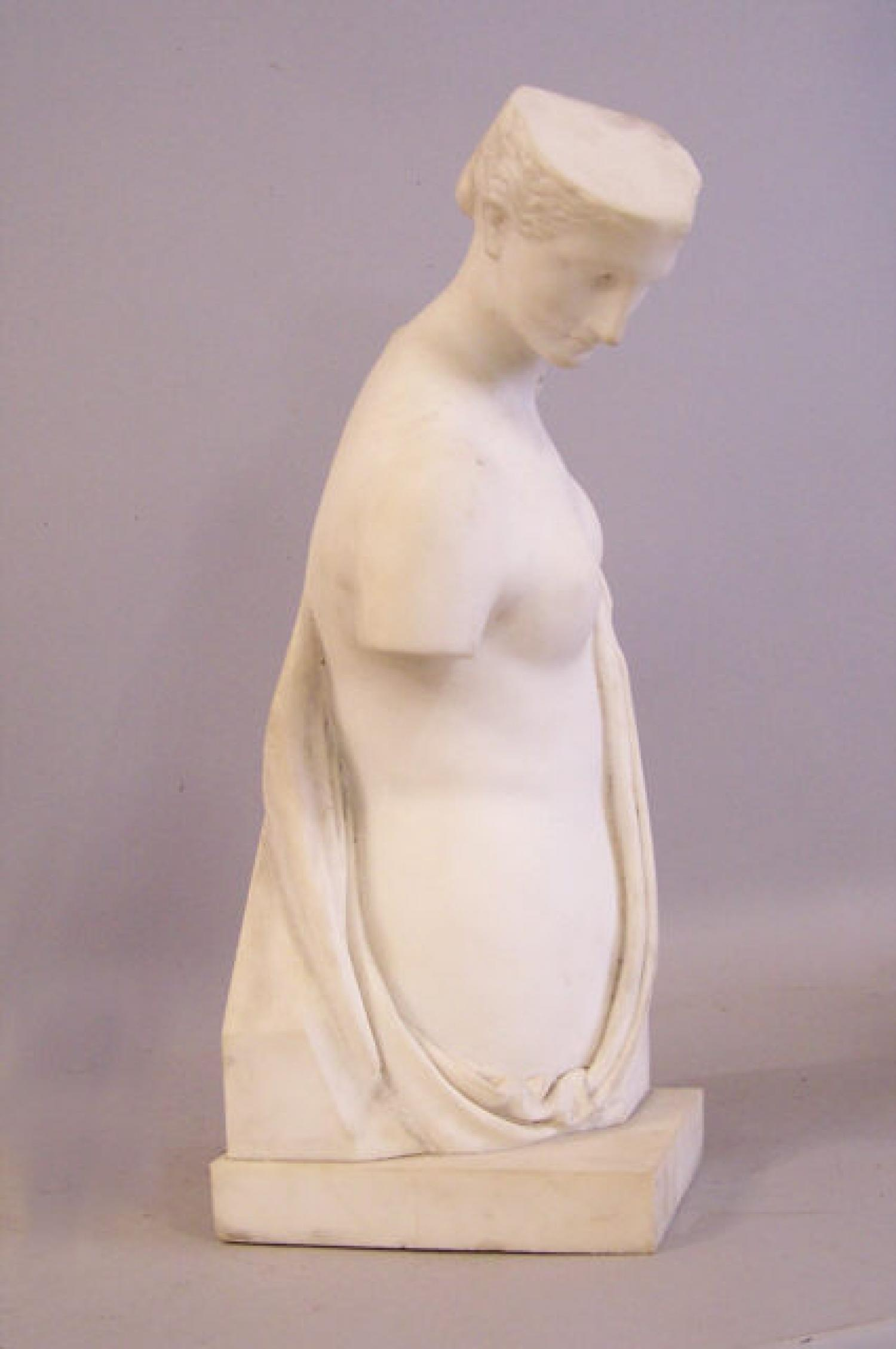 19th century Marble sculpture torso of a woman