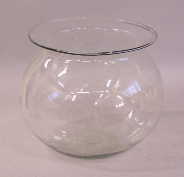 Large antique blown glass fish bowl for Large glass fish bowl