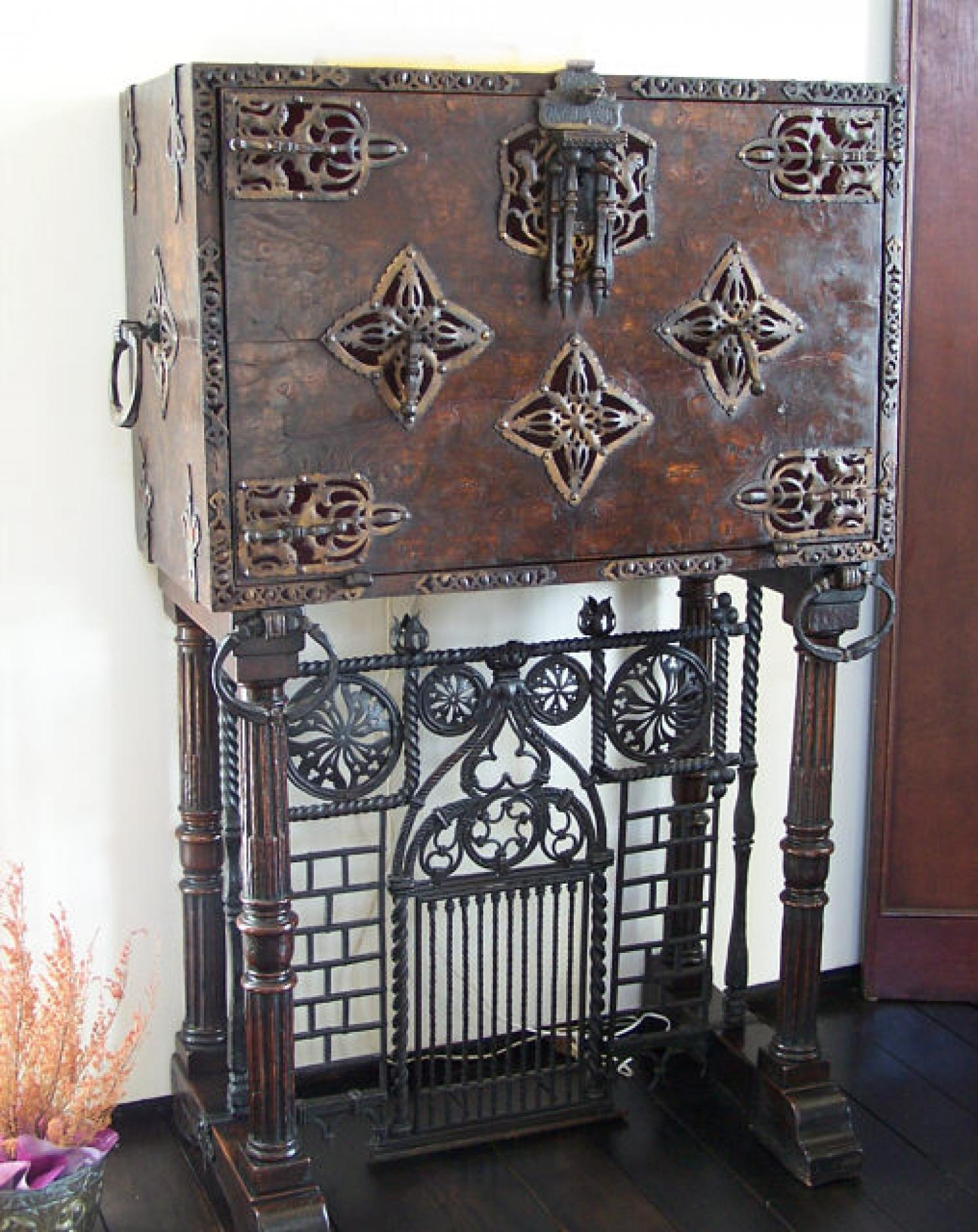 Italian Varqueno in the 17th century style drop front desk