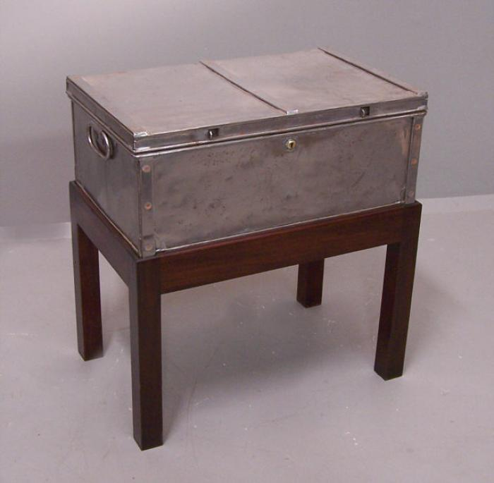 Grayson Derby steel and copper storage box c1915