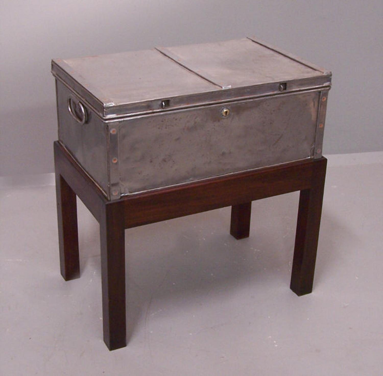 Grayson Derby steel and copper storage box c1915