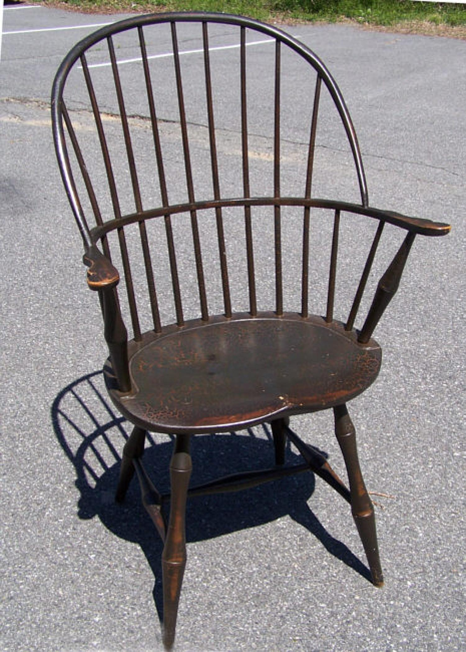 Reproduction Sack back Country Windsor Arm chair