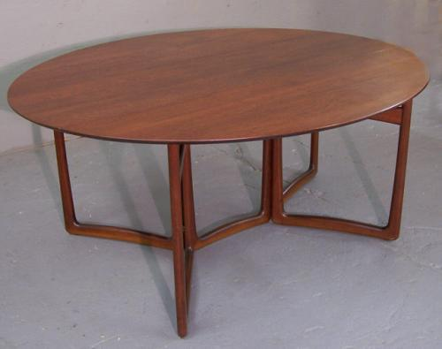 Peter Hvidt Orla Molgaard Nielsen modern teak dining table