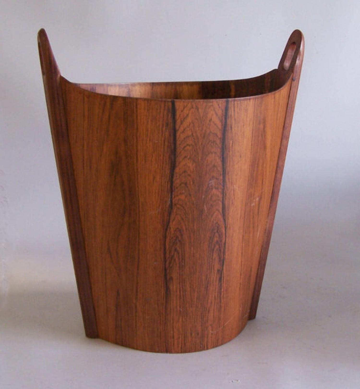 Mid Century Modern rosewood waste paper basket P S Heggen