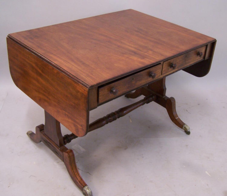 American  Federal sofa table Philadelphia c1820