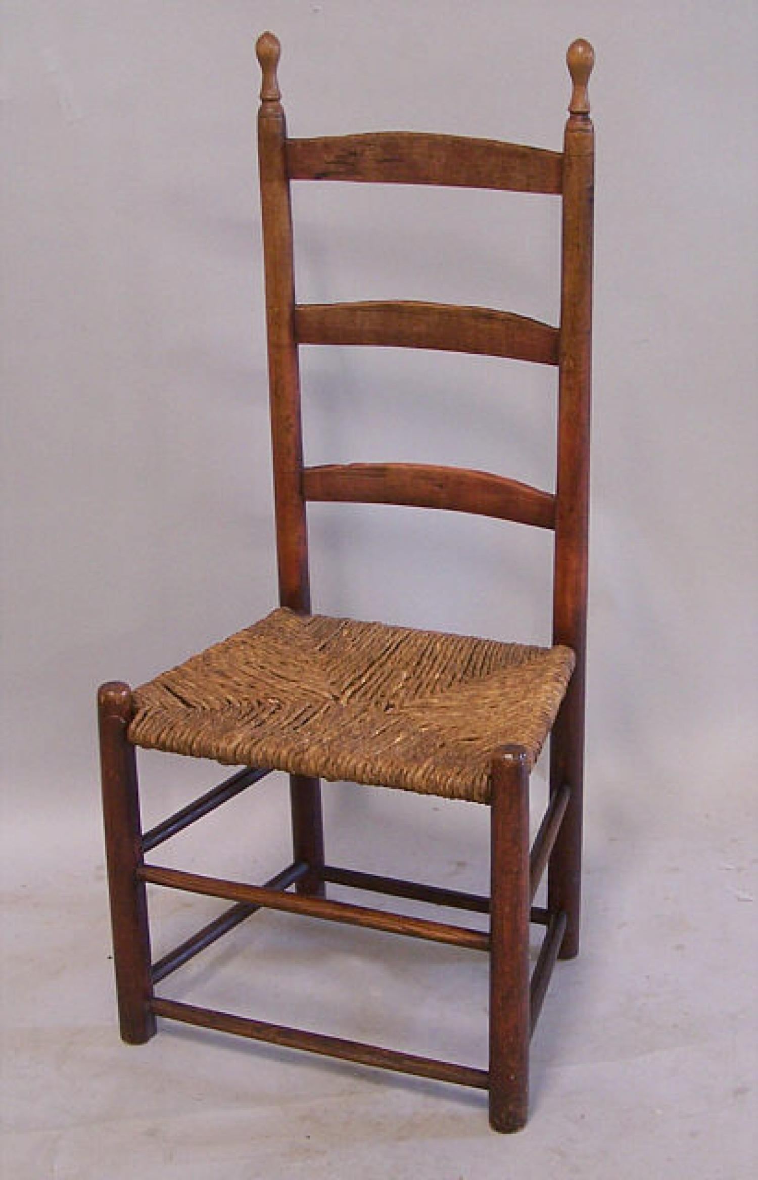 Early American country ladder back chair c1740 - American Country Ladder Back Chair C1740