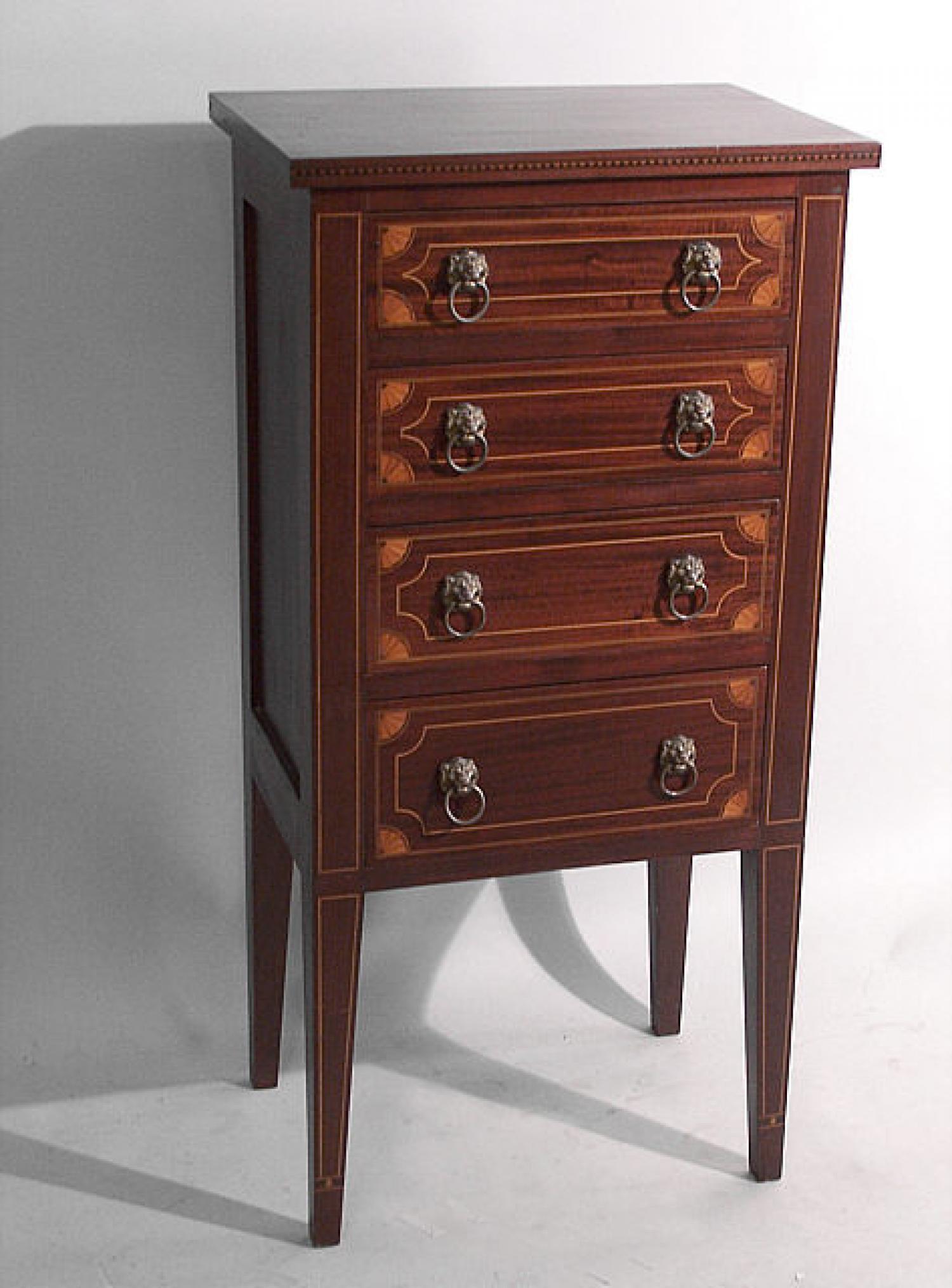 Mahogany Hepplewhite style linen chest circa 1880