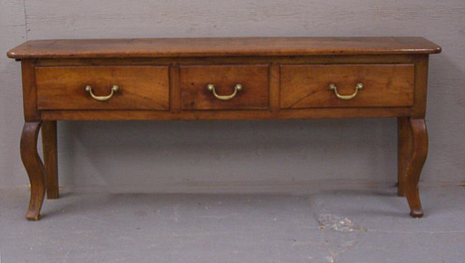 French country three drawer fruitwood sideboard c1780