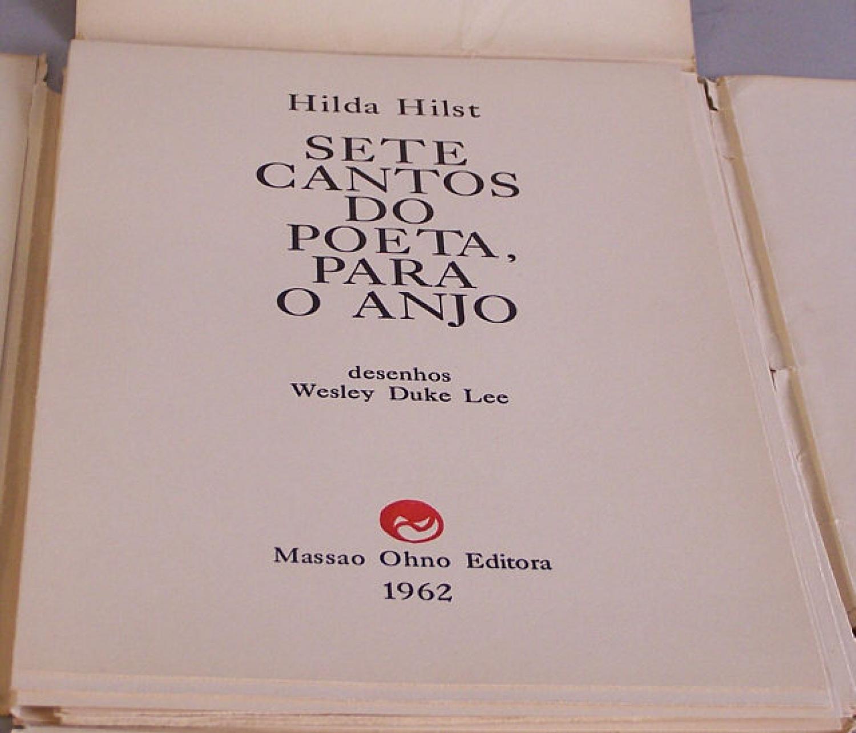 Hilda Hilst Sete Cantos Do Poeta Para O Anjo 1962
