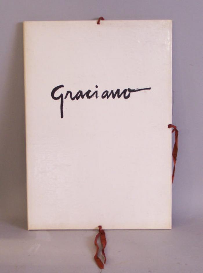 Clovis Graciano signed Gravure cuivre prints folio 1966