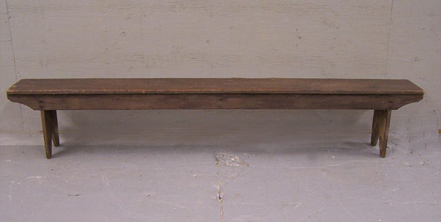 Early American country painted pine bench c1800 to 1840