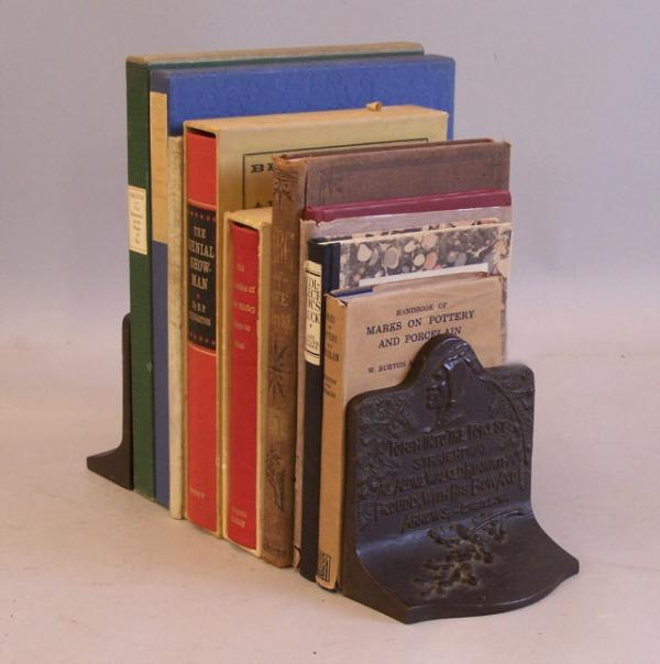 Arts and crafts period bronzed cast iron bookends c1900 for The actor s art and craft