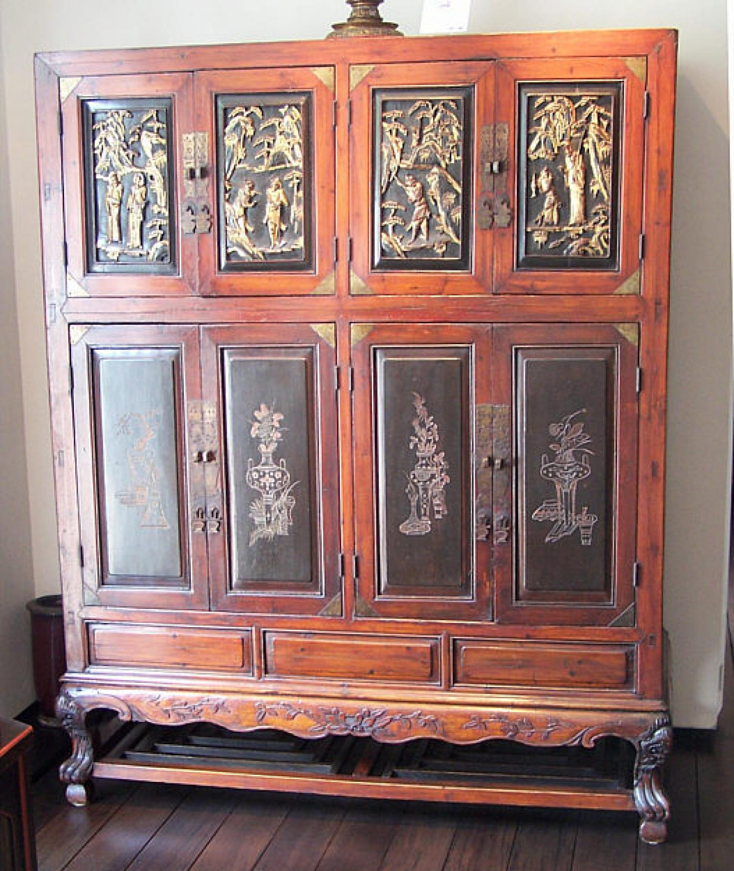 18th C Chinese temple linen chest