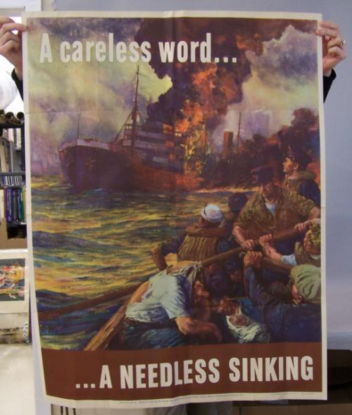 A Careless Word A Needles Sinking World War ll poster