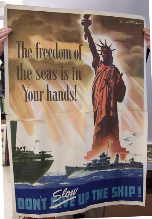 Freedom of the Seas World War ll Navy  poster