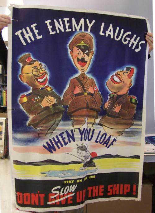The Enemy Laughs World War ll poster