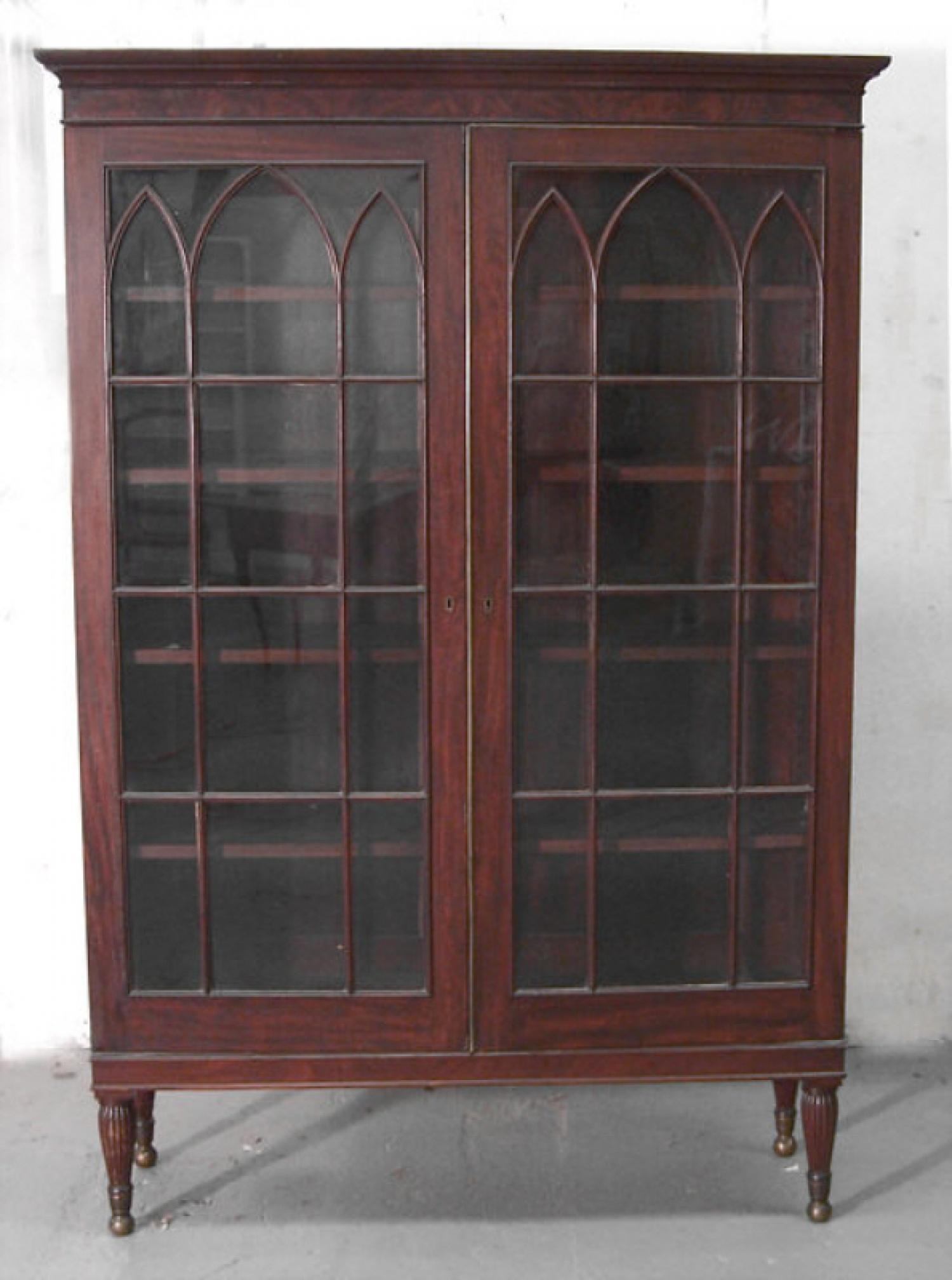 American Federal two door bookcase c1840
