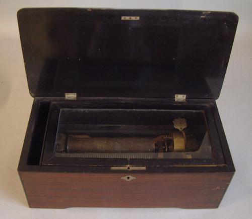 Antique Victorian cylinder music box