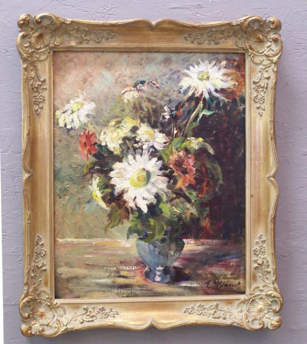 Floral Still Life By F Mcjannet